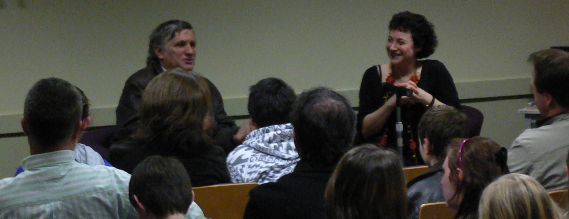 Library presentation with John Marsden