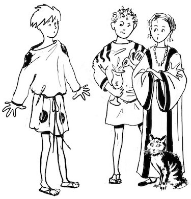 Main characters The Boy Who Stepped Through Time