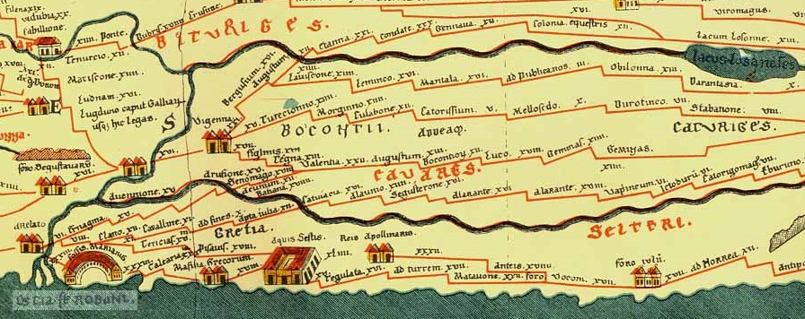 Map from villa to Arelate